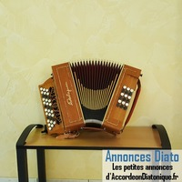 Accordéon diatonique CASTAGNARI Sol/Do 3 rangs